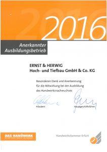 Ernst und Herwig Anerkannter Ausbildungsbetrieb
